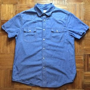 Other - Denim short sleeve button up